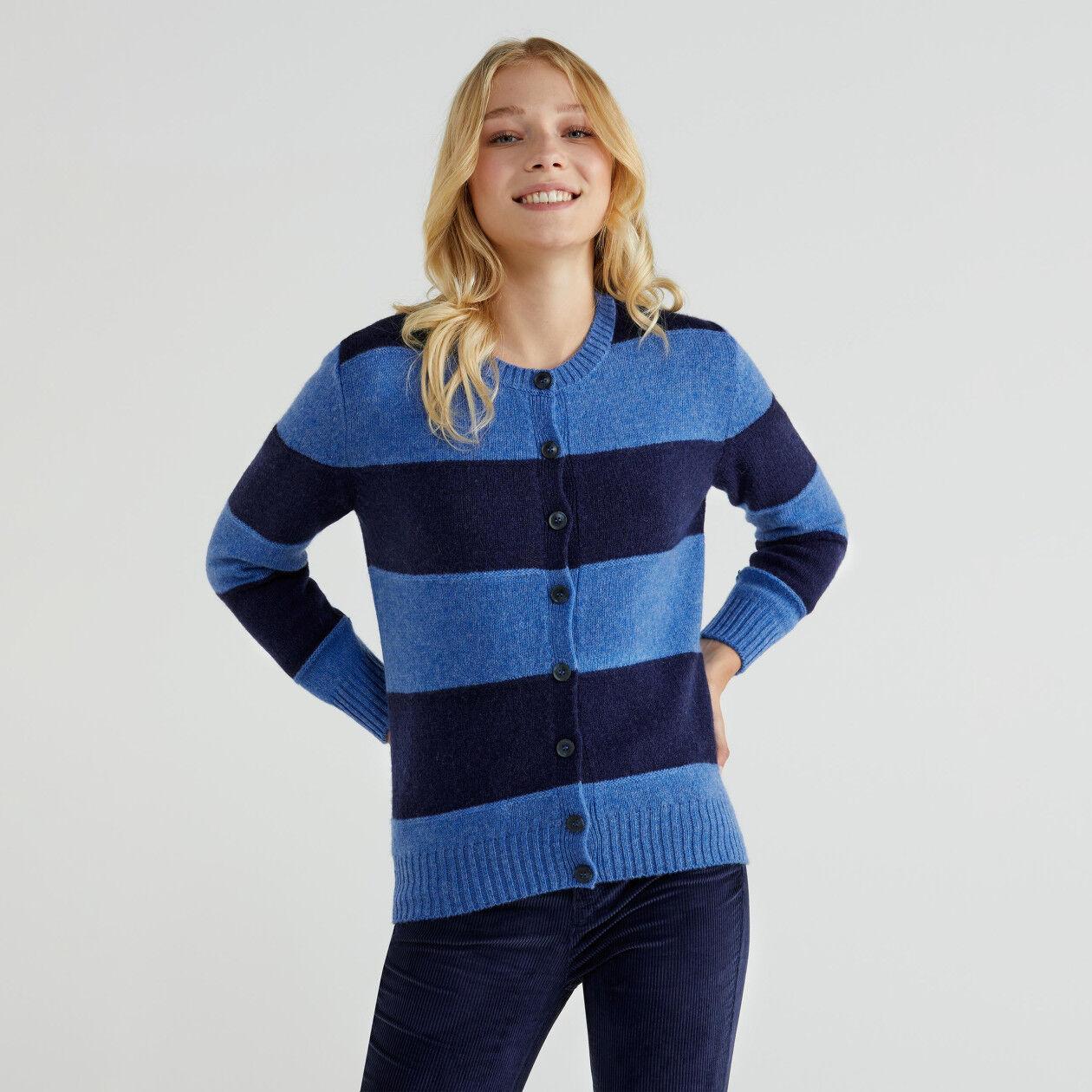 Cardigan in lana Shetland