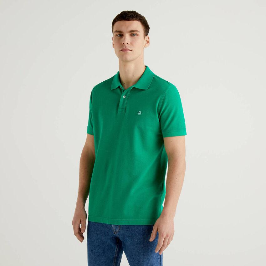 Polo regular fit verde personalizzabile