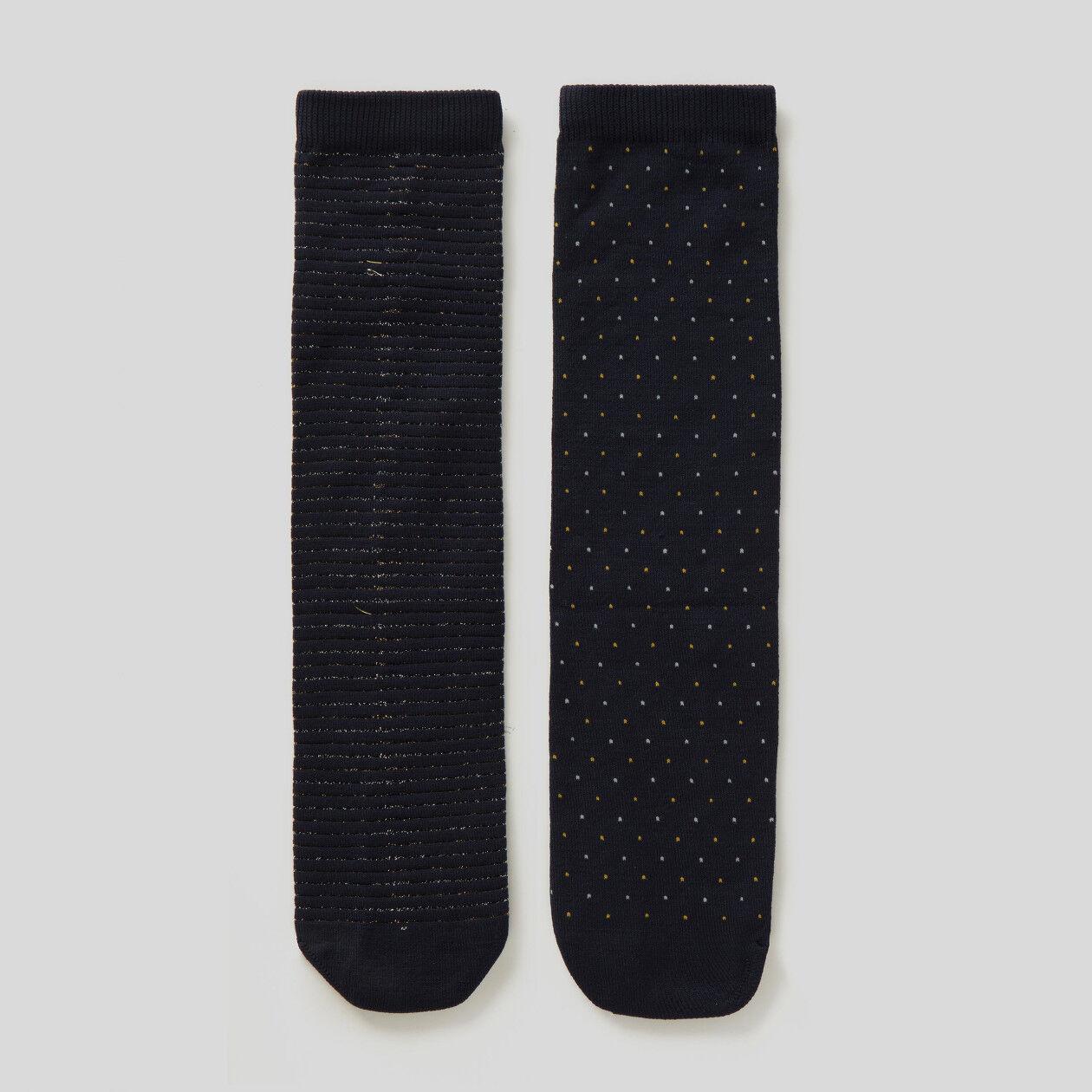 Due paia di calzini con lurex