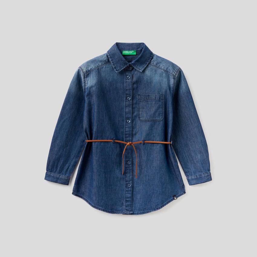Camicia in jeans 100% cotone