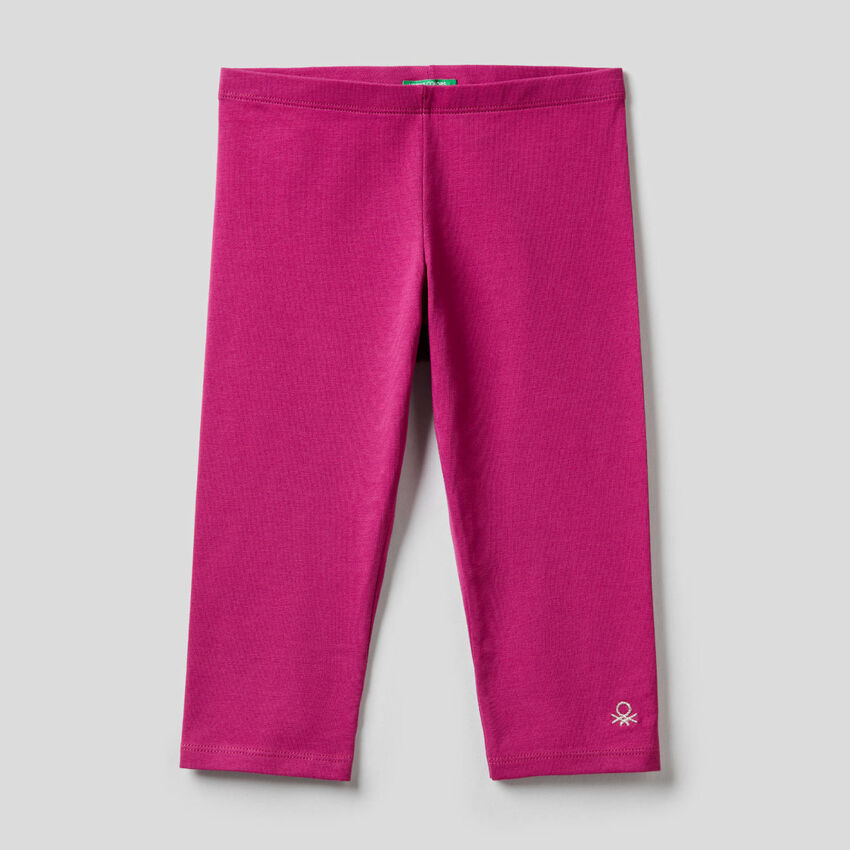 Leggings a 3/4 in cotone stretch