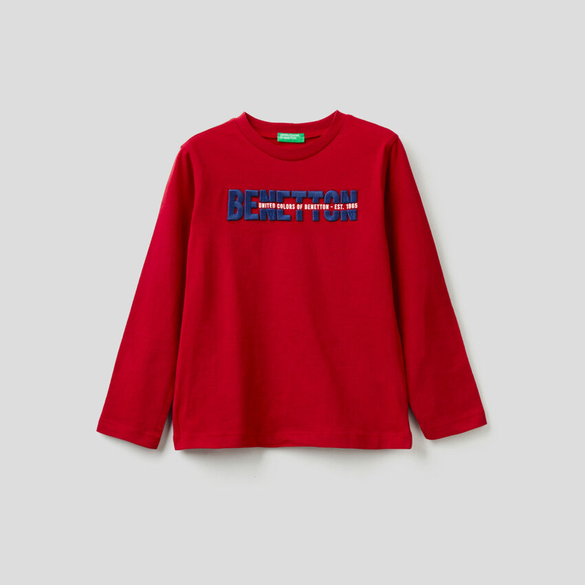 T-shirt manica lunga 100% cotone bio