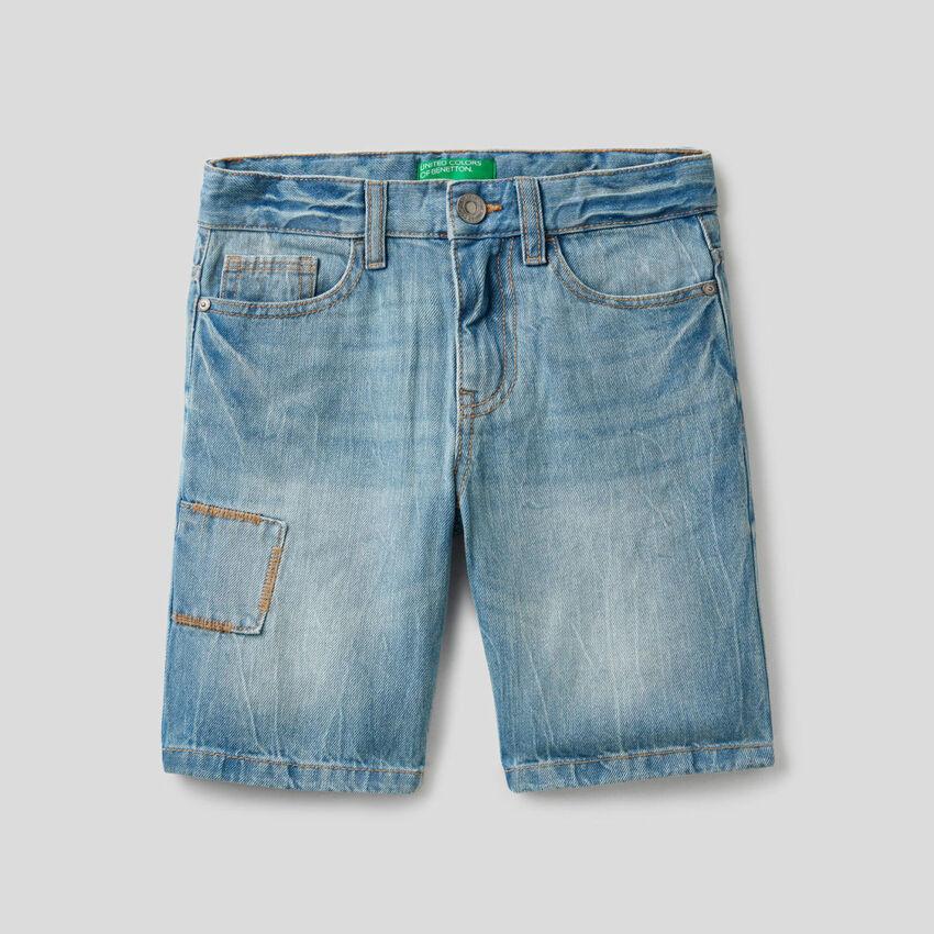 Bermuda in jeans 100% cotone