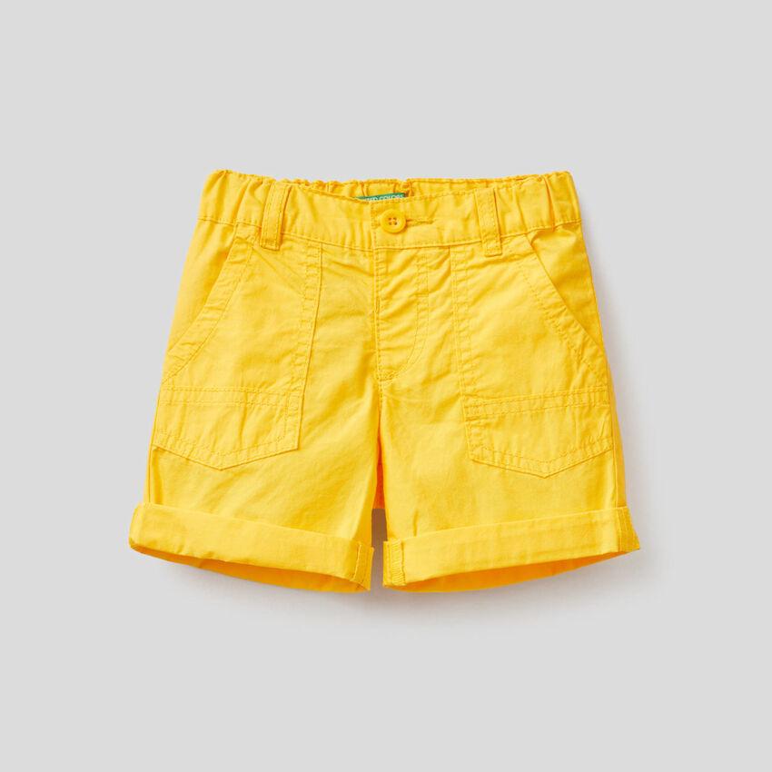 Pantaloni corti in puro cotone