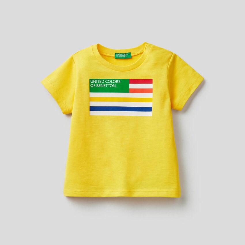 T-shirt stampa logo in cotone biologico