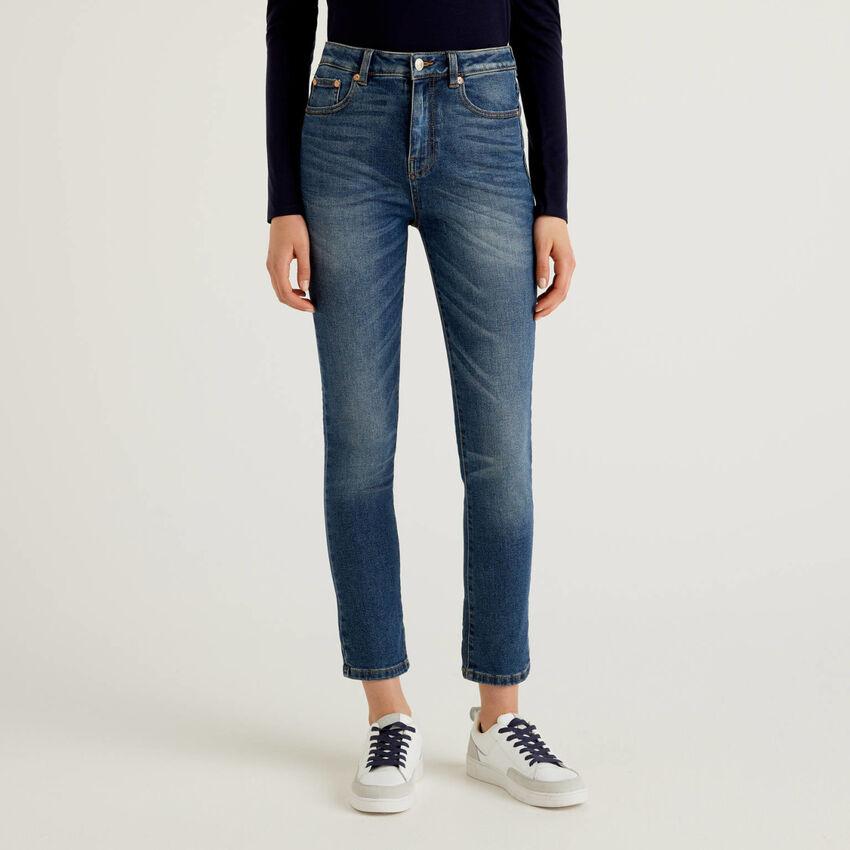 Jeans skinny in denim di cotone stretch