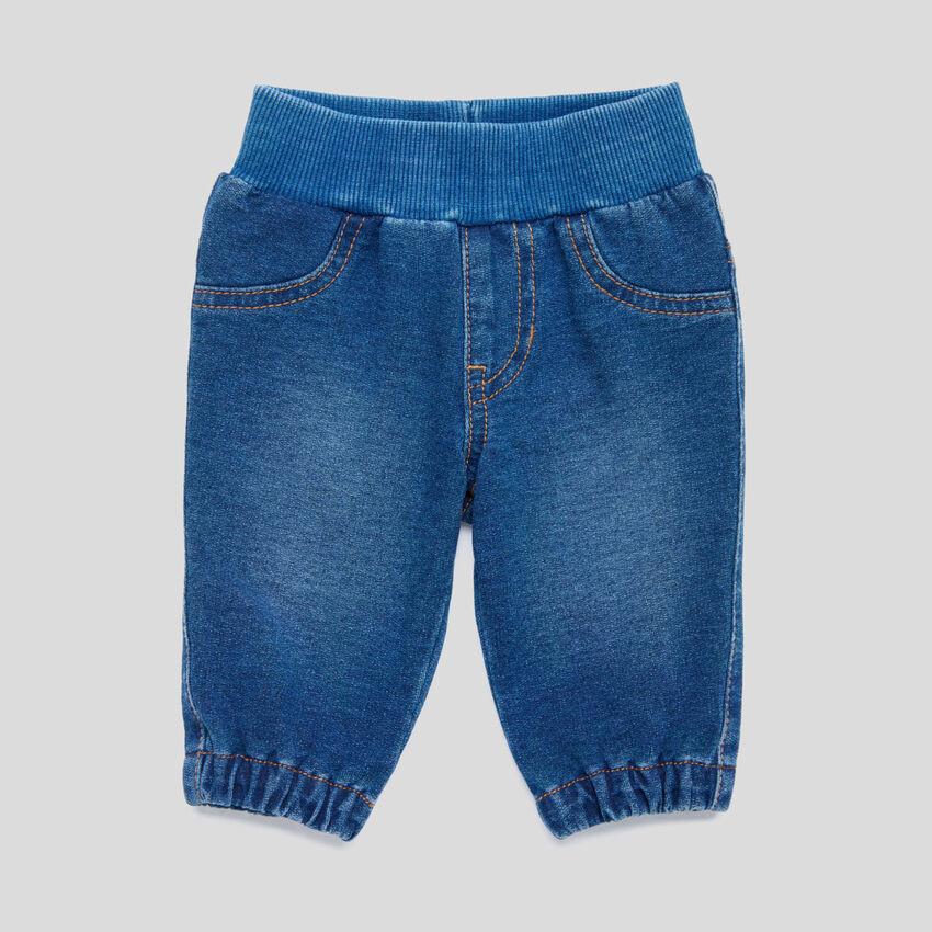 Pantaloni stretch effetto denim