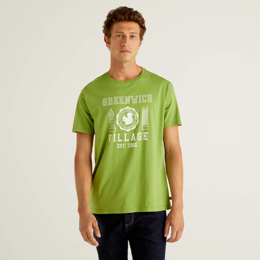 T-shirt con stampa in 100% cotone bio
