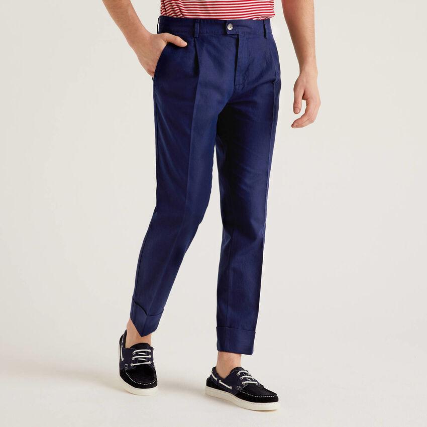 Pantaloni in misto lino