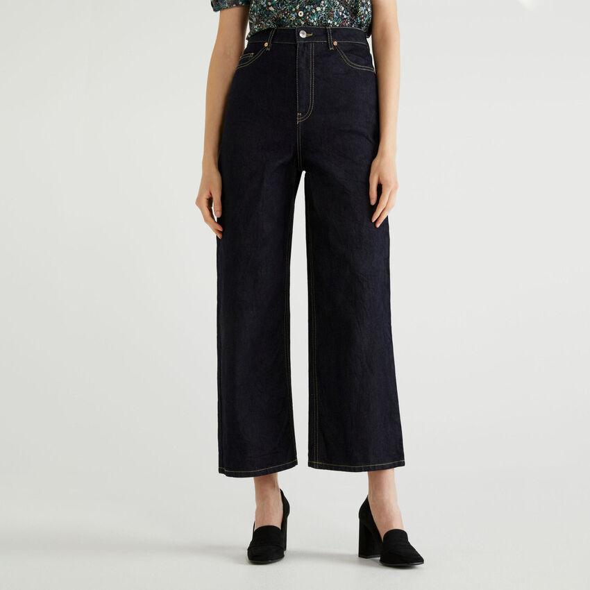 Jeans mum fit in denim stretch