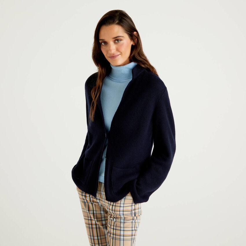 Giacca in maglia misto lana e cashmere