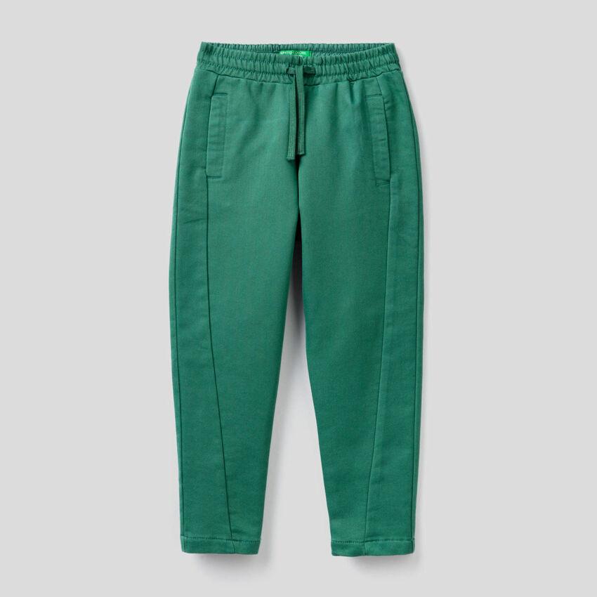 Pantaloni sportivi effetto felpa