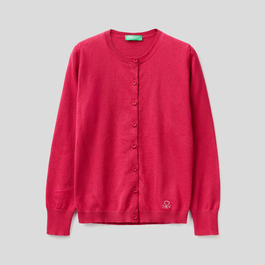 Cardigan tricot 100% cotone