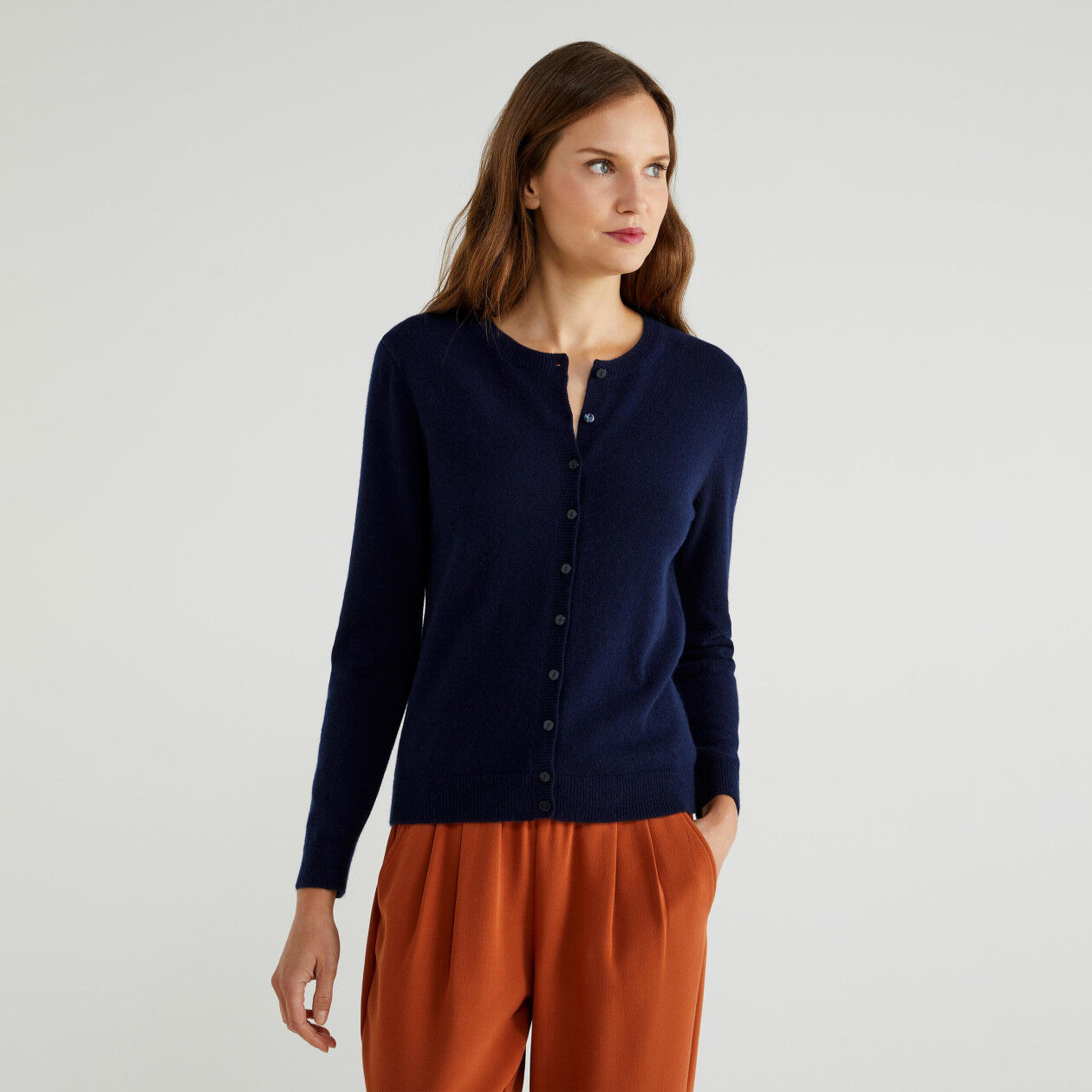 Cardigan in puro cashmere