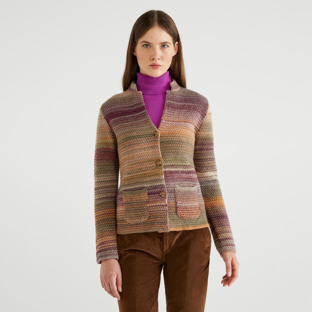 Giacca in maglia multicolor