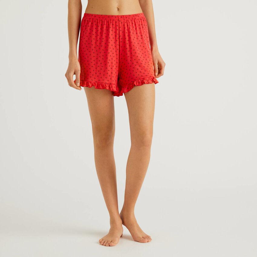 Shorts con stampa fantasia