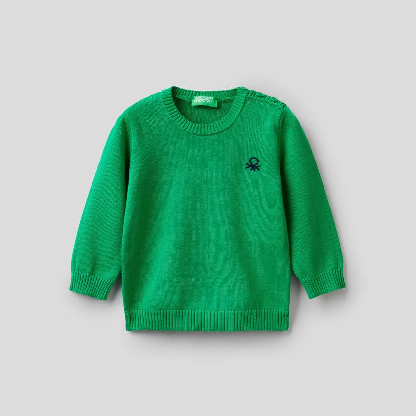 Maglia tricot in puro cotone