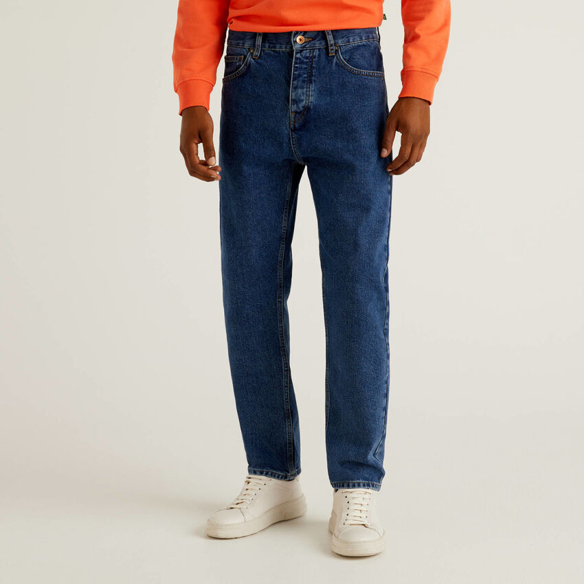 Jeans cropped 100% cotone