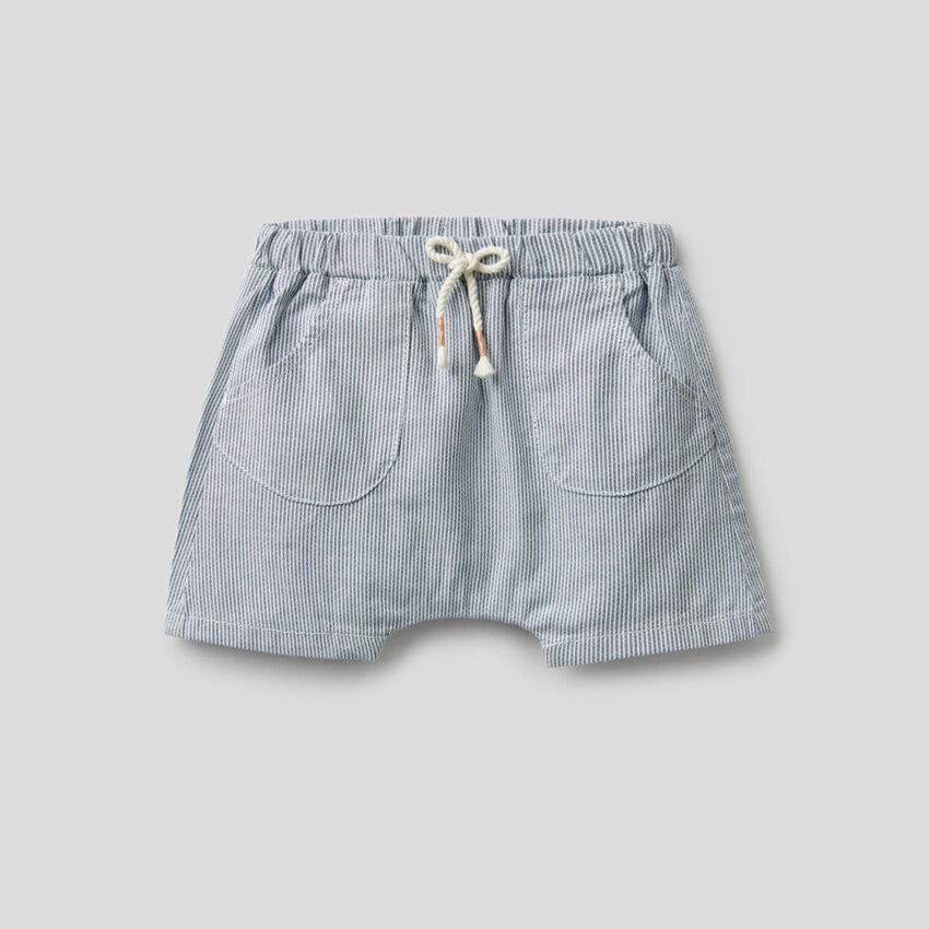 Shorts a righe in puro cotone
