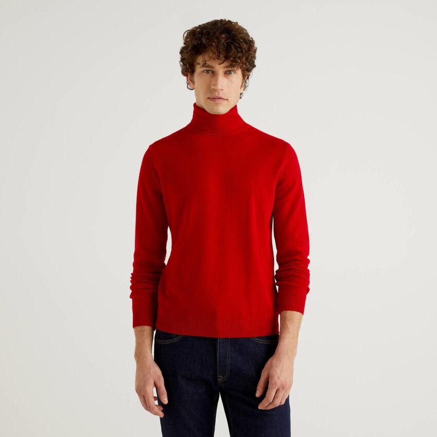 Dolcevita rosso in pura lana vergine
