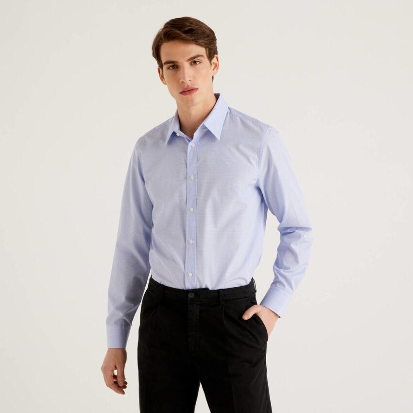 Camicia slim fit in puro cotone