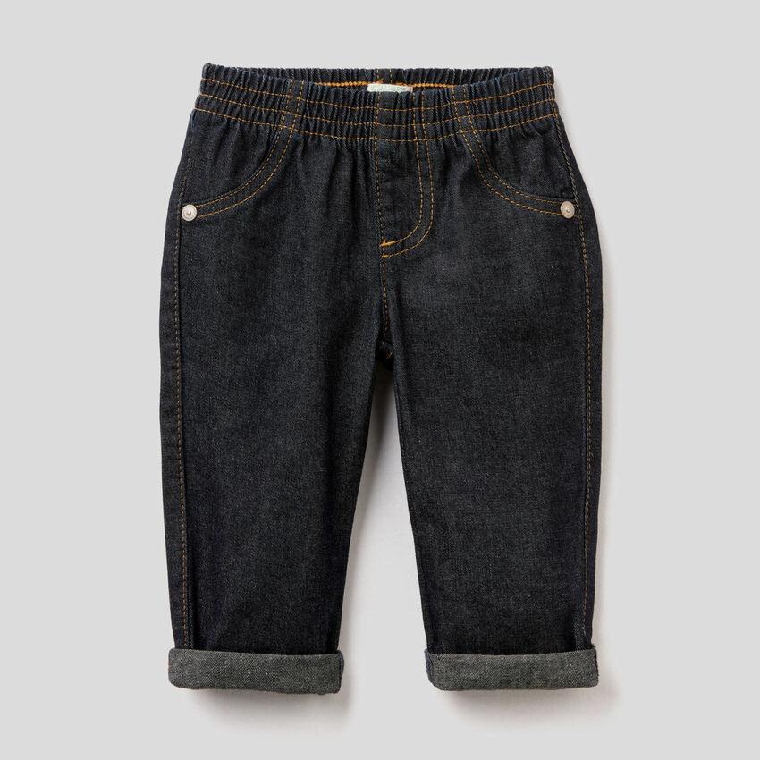 Jeans in denim 100% cotone