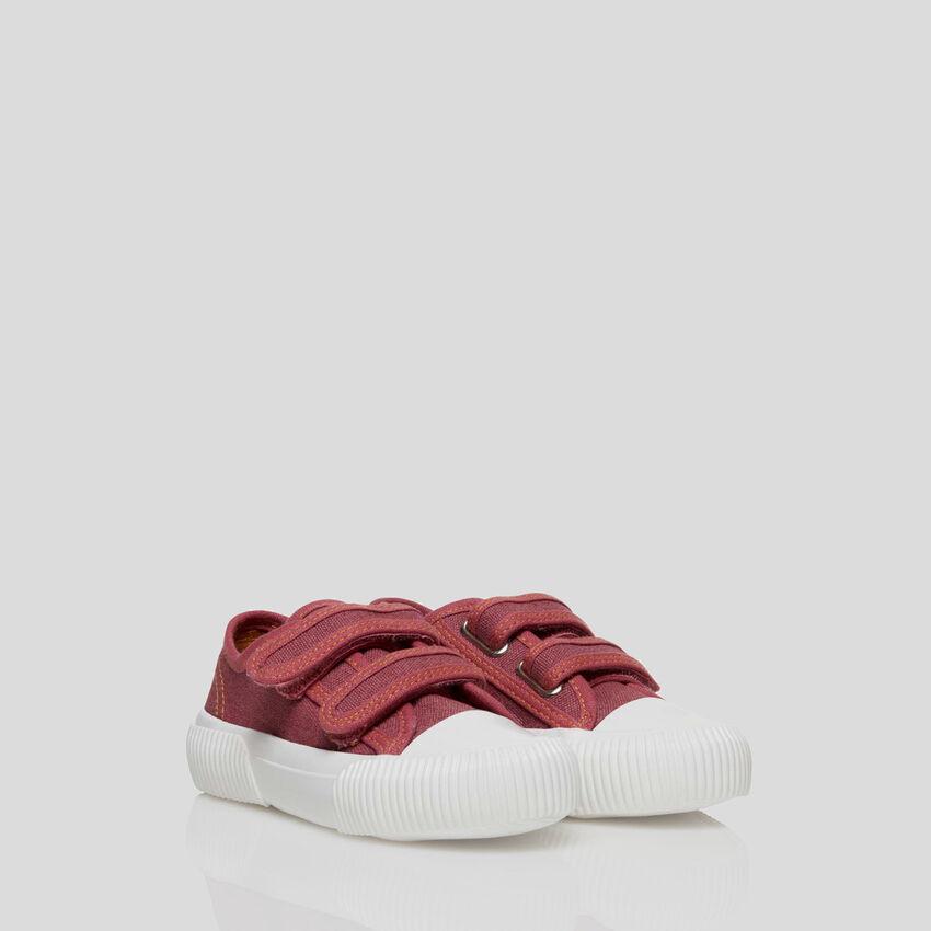 Sneakers con cinturini in velcro