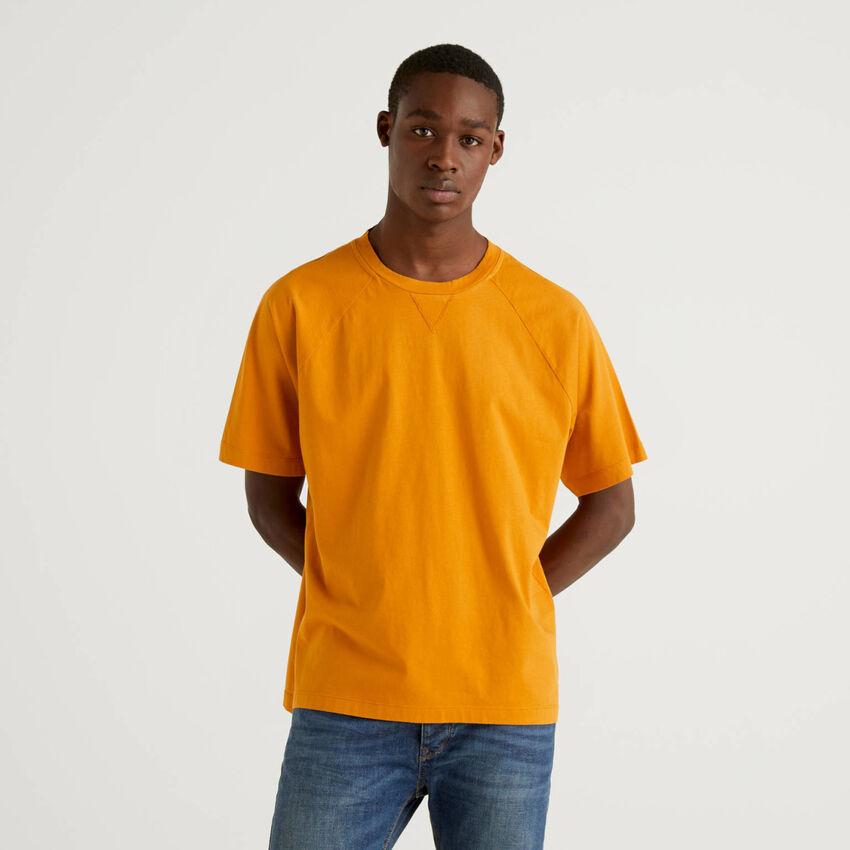 T-shirt 100% cotone con manica raglan