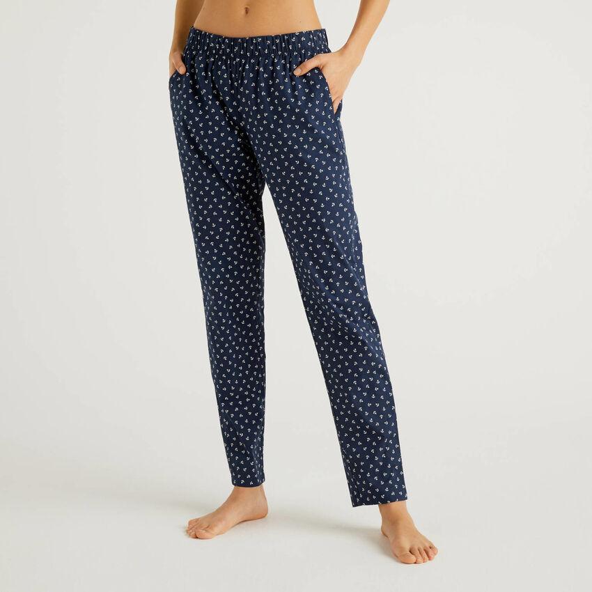 Pantaloni fantasia in puro cotone