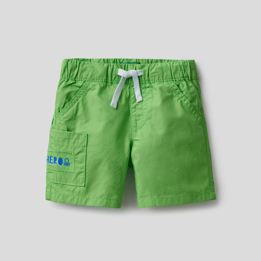 Bermuda in 100% cotone