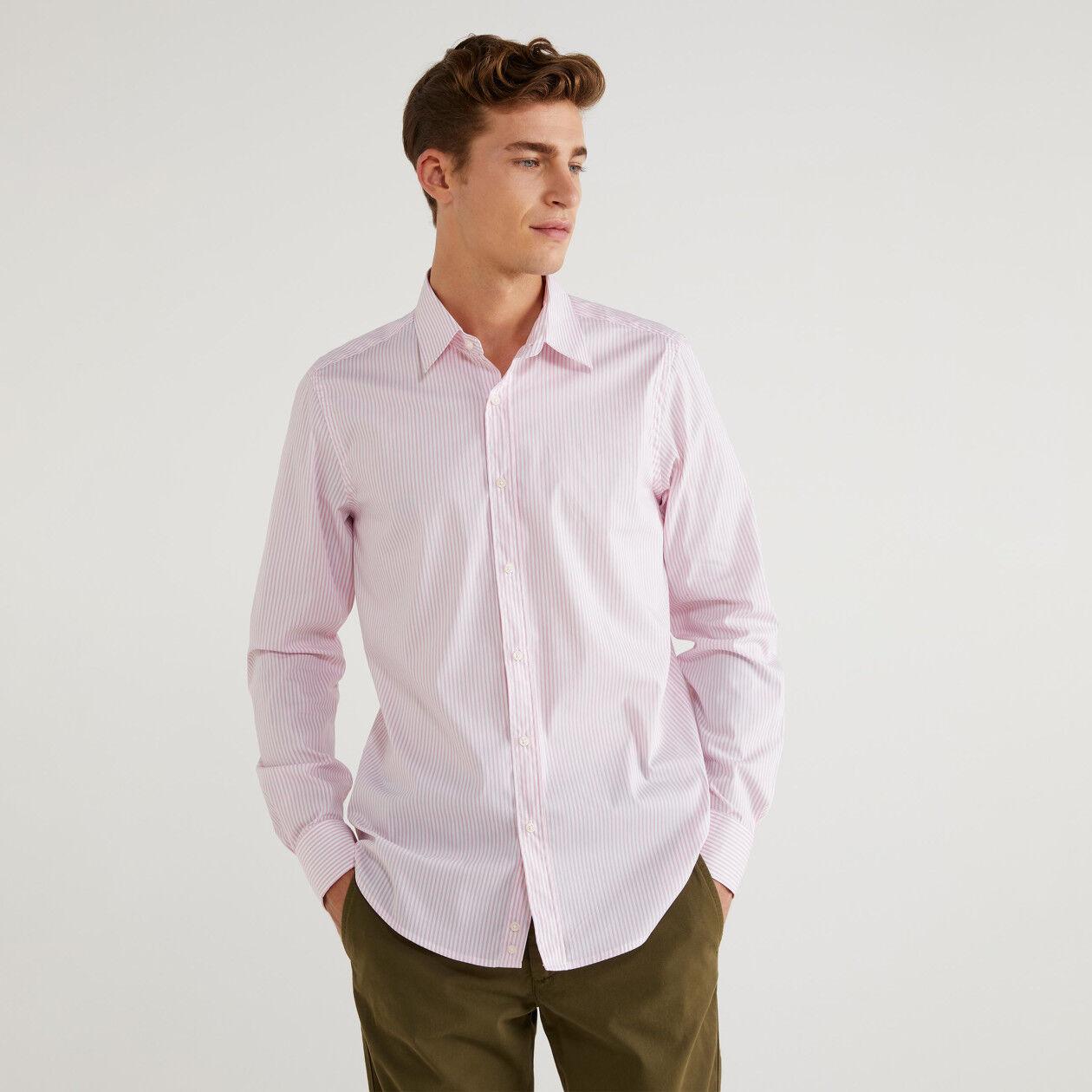 Camicia slim fit a righe