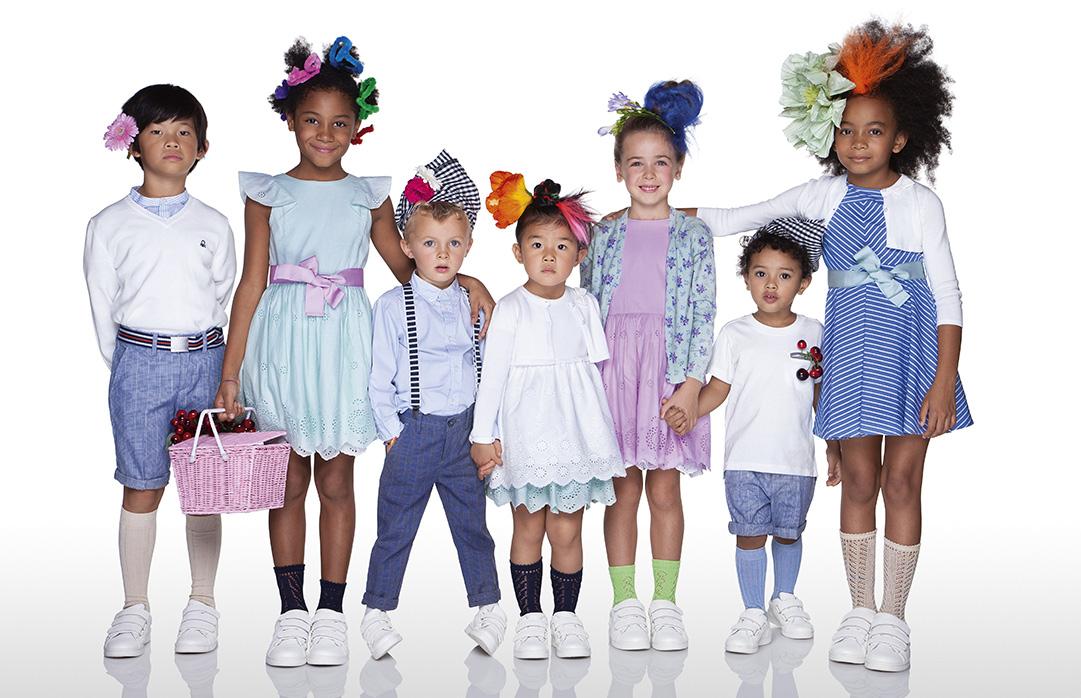Vestiti Cerimonia Bambina Benetton.Collezione Bambini Primavera Estate 2019 Benetton